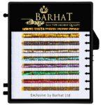 Ресницы Barhat цветные Holliday (7 цветов) мини планшет 8 лент
